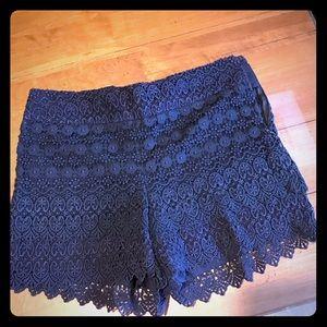 Loft Navy lace shorts